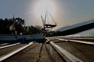ボートと夕日 - No.1198240