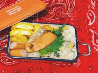 鮭のお弁当♪の写真・画像素材[1073834]