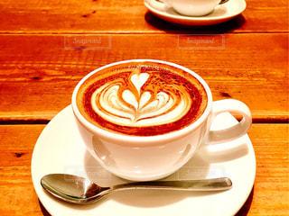 カフェ,コーヒー,ハート,カプチーノ,ラテアート,喫茶