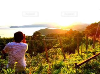 風景,空,屋外,水面,旅行,夕陽,山口,ライフスタイル,周防大島,レジャー・趣味