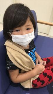 風邪ひいて病院の写真・画像素材[1078063]