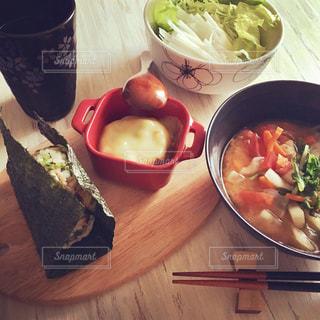 和食な朝ごはんの写真・画像素材[1153629]