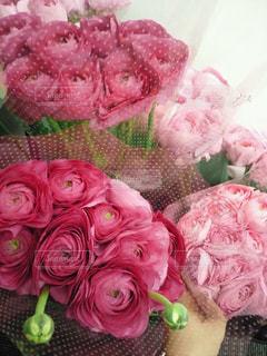 花,ピンク,花束,お花,癒し,ブーケ,pink,ラナンキュラス