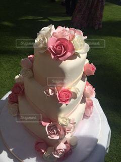 ケーキ,ピンク,バラ,薔薇,pink,ウェディング,ウェデングケーキ,イミテーション