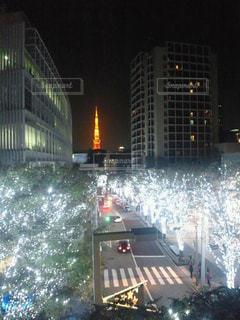 夜の街の景色の写真・画像素材[1659882]