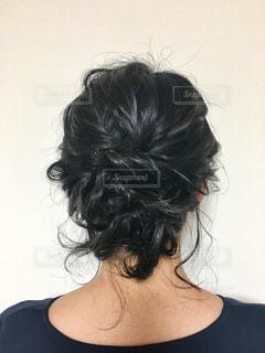 女性,髪,後ろ姿,結婚式,黒髪,人物,人,後姿,パーティー,ヘアアレンジ,頭,ヘアメイク,ヘアセット,後頭部,アップスタイル