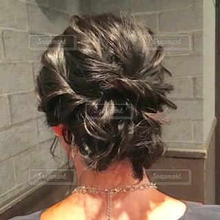 女性,髪,後ろ姿,結婚式,黒髪,人物,人,後姿,ネックレス,パーティー,ヘアアレンジ,頭,ヘアメイク,ヘアセット,後頭部,アップスタイル