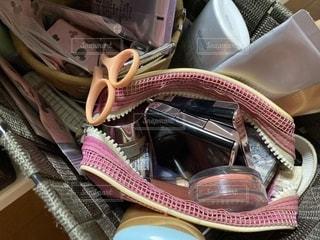 ピンク,美容,ポーチ,コスメ,化粧品,汚い,化粧ポーチ