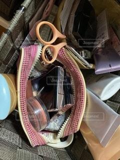 ピンク,はさみ,美容,ポーチ,コスメ,化粧品,汚い,ハサミ,化粧ポーチ