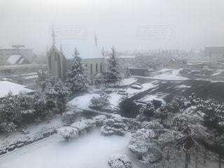 雪の街の写真・画像素材[1077330]