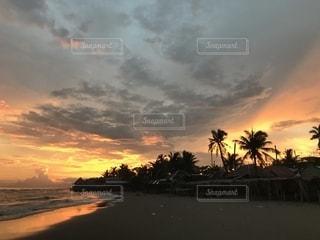 自然,海,空,夕日,雲,夕暮れ,フィリピン