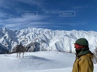 自然,空,冬,雪,屋外,山,氷,人,運動,スキー場,スノーボード,斜面,ウィンタースポーツ,日中