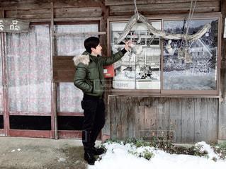 建物,冬,雪,屋外,人物,人