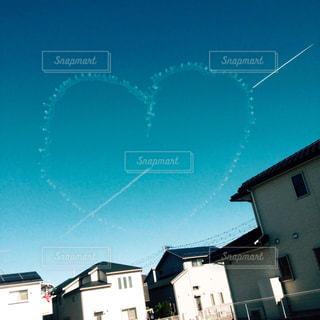 空,屋外,青空,ハート,飛行機雲,航空ショー