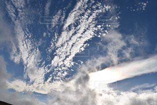 自然,空,秋,鳥,屋外,太陽,雲,青空,青,日差し,虹色,秋空,彩雲,秋の空