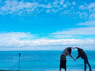 海,沖縄,ハート,友達