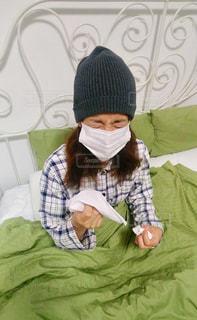 風邪辛いですの写真・画像素材[1088678]