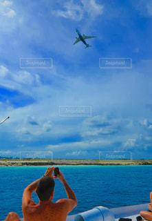 青空と青い海🏖の写真・画像素材[1099493]