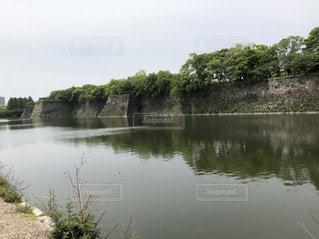大阪城の堀の写真・画像素材[1194909]