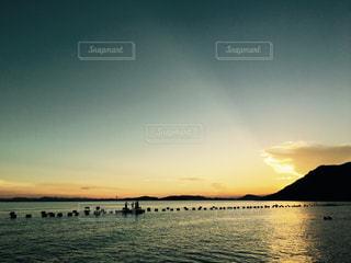 渋川海岸の夕焼け空の写真・画像素材[1241111]