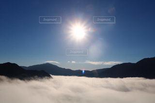 空,太陽,光,雲海,竹田城