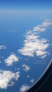 雲と青い空の眺めの写真・画像素材[1107267]