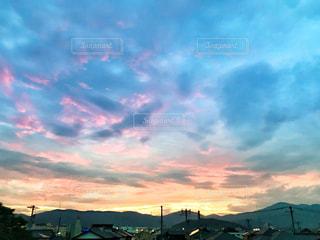 自然,空,夕日