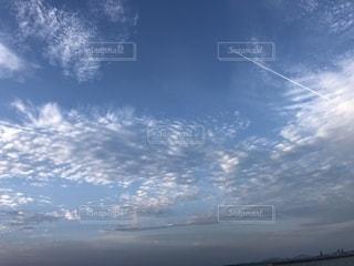 空,屋外,雲,青,飛行機雲,秋空,日中,空の日