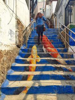 鯉の階段の写真・画像素材[2230888]