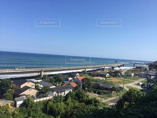 日立駅からの海と空の写真・画像素材[1102081]