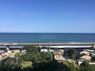 日立駅から見た海岸線の写真・画像素材[1102086]