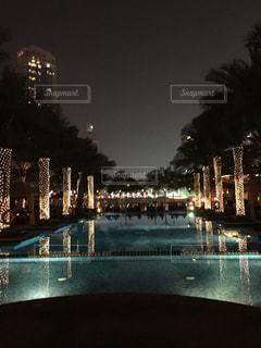 夜景,プール,ホテル,ドバイ,パレスホテル