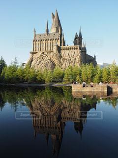 夏のホグワーツ城の写真・画像素材[1220051]