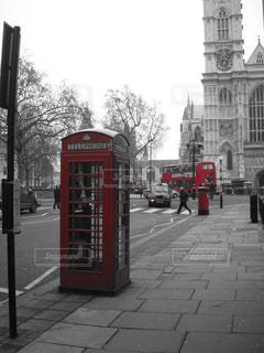 風景,赤,景色,外国,旅行,旅,バス,ポスト,ロンドン,海外旅行,公衆電話