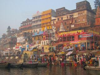 風景,カラフル,景色,外国,旅行,旅,インド,海外旅行,聖地,沐浴,ガンジス川,バラナシ