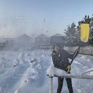 雪嬉し‼︎の写真・画像素材[2839861]