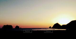 北海道の夕陽スポットの写真・画像素材[1411512]