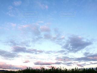 空には雲のグループの写真・画像素材[1115378]