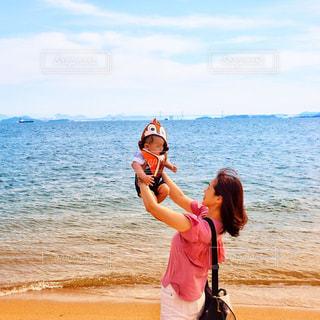 自然,海,空,夏,ビーチ,海岸,人物,人,男の子,summer,息子,ママ,お母さん