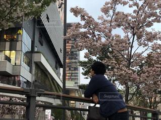 桜,屋外,スカイツリー,川,日常,春コーデ