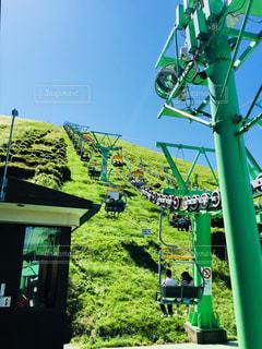 大室山登山リフトの写真・画像素材[1108505]