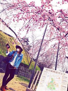 桜の木の下で🌸の写真・画像素材[1133370]