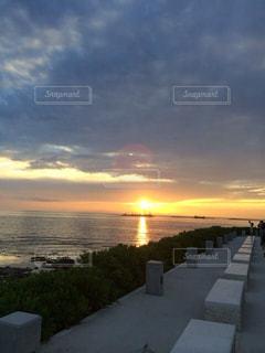 空,夕日,夕暮れ,沖縄
