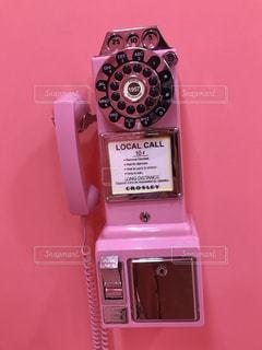 ピンク,壁,電話,ピンク色