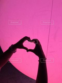 ピンク,手,ハート,ピンク色