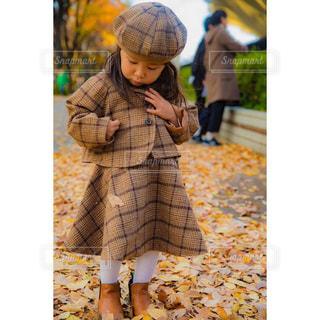 秋ファッションの写真・画像素材[1583399]