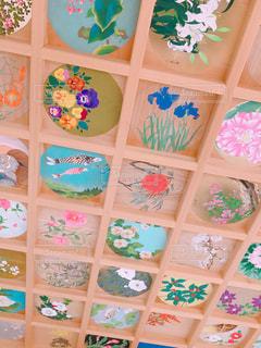 色とりどりの花の画の写真・画像素材[1665786]
