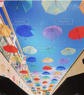 カラフルな傘の写真・画像素材[2131931]