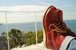 海🏖と靴の写真・画像素材[2639224]