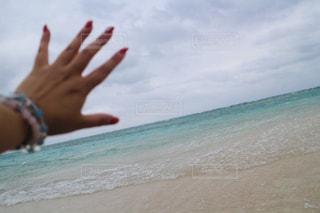 浜辺の手の写真・画像素材[2799301]